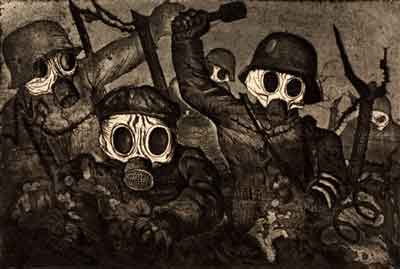 Otto Dix, Stormtroopers Advance Under Cover of Gas, 1924