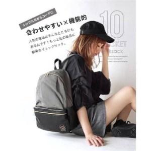 【日本直送】Legato Largo nylon拼接PU daypack 超輕時尚背囊