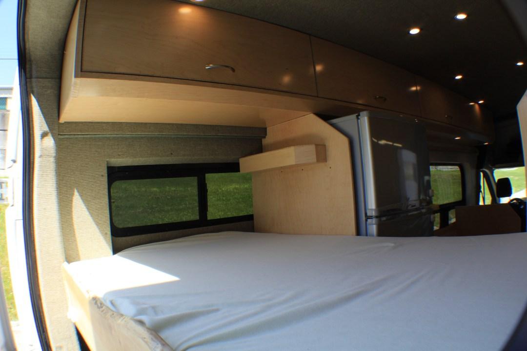 Sleeping area with storage