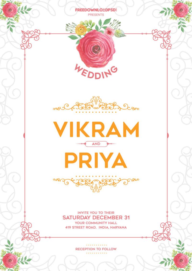 Wedding Invitation Template Free Best Inspiration Uk