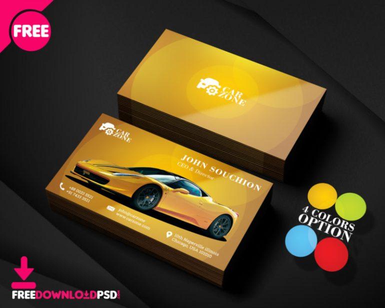 Automotive Business Card Templates PSD