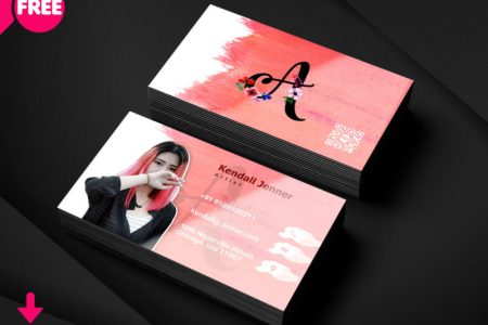 Artist Business Card PSD Template   FreedownloadPSD com clean business card  minimalist business card template free  minimalist business  card template psd