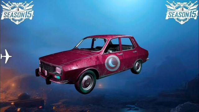 PUBG Mobile New Season New car Skin-Rose Moon Dacia