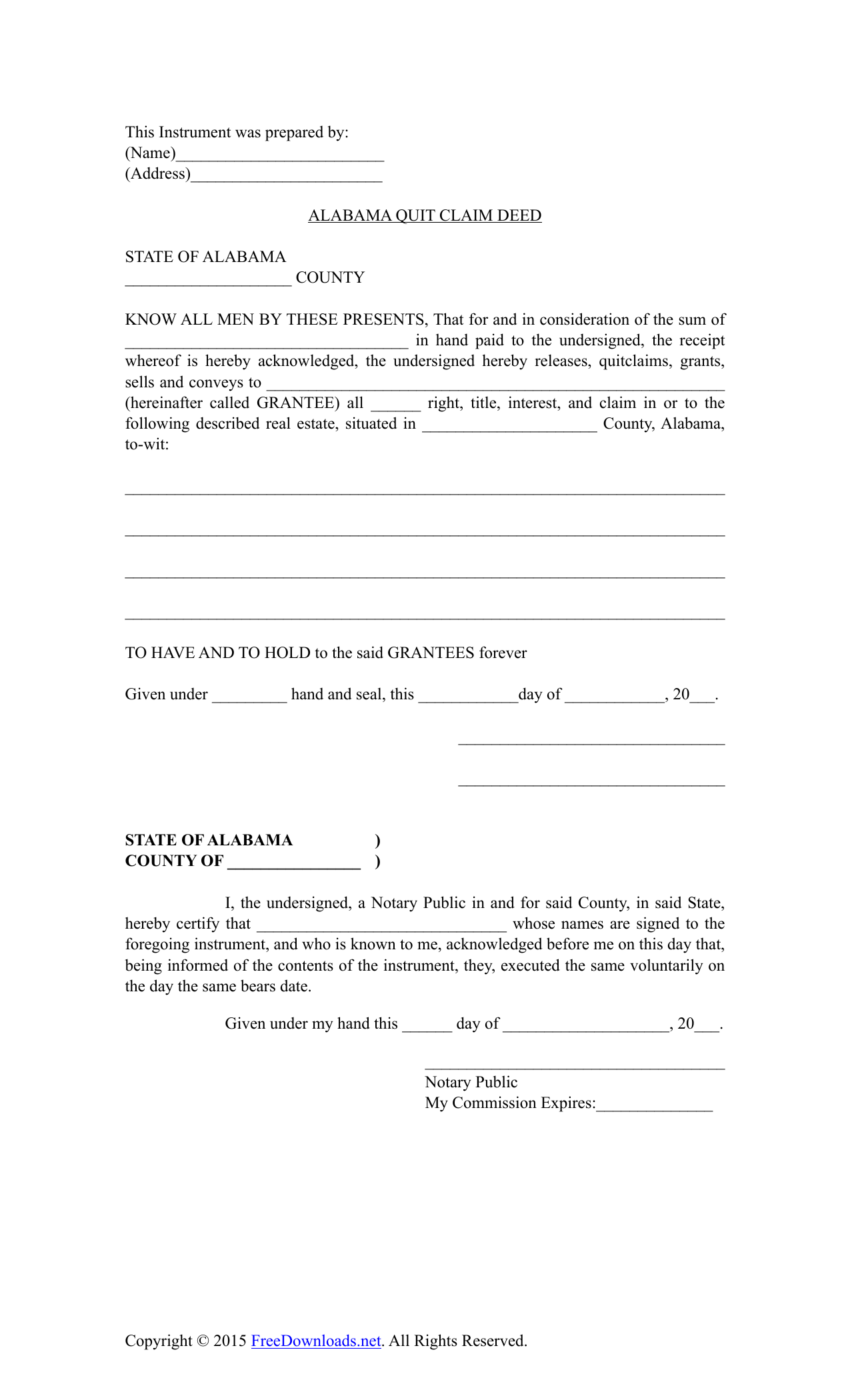 Blank Forms Fill Out