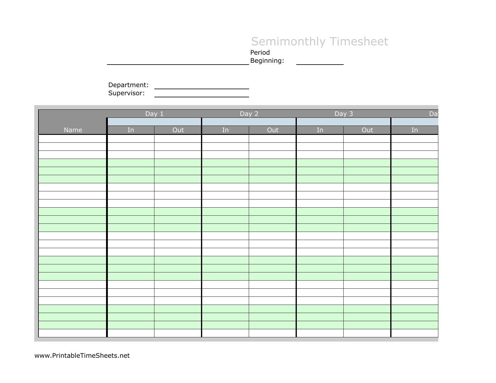 Time tracking can be extremely tedious, but it's an expected part of doing business for many agencies and firms. Download Semi Month Timesheet Template Excel Pdf Rtf Word Freedownloads Net