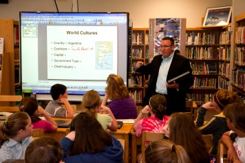 Wayland-Cohocton C.S. students in media center
