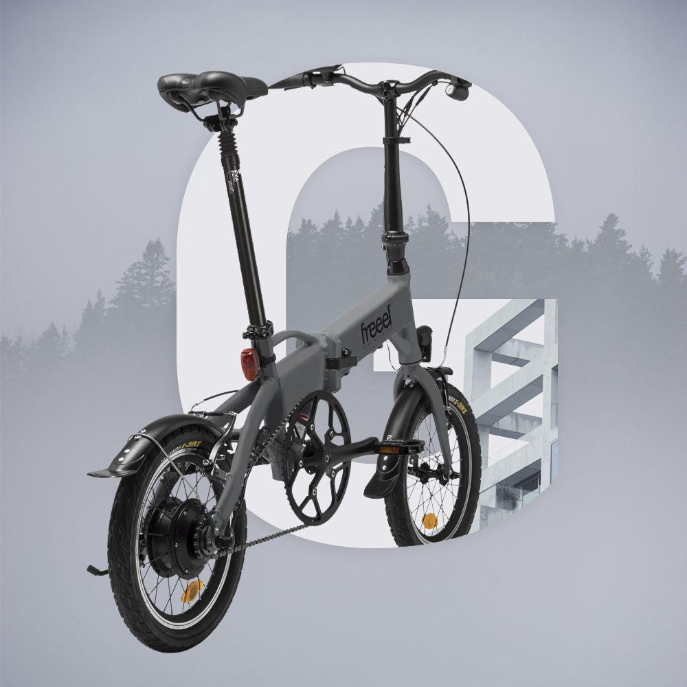 Freeel Bicicletas Eléctricas. Freeel Z03, la bicicleta plegable diseñada en Barcelona. Freeel Z03 Gris mate