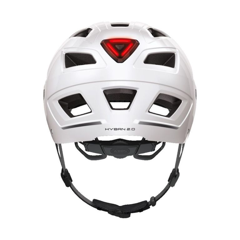 Casco Abus Hyban 2.0 Polar White para bicicleta eléctrica Freeel Z03