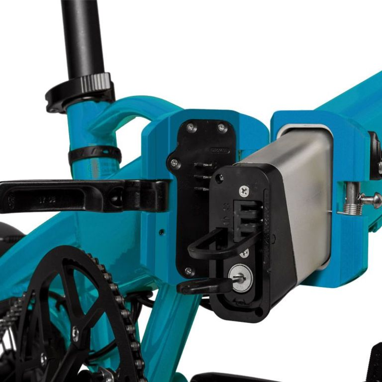 Freeel Bicicletas Eléctricas. Freeel Z03-S Turquesa Mate, bicicleta eléctrica, plegable y ligera