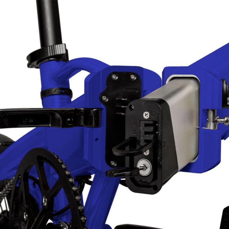 Freeel Bicicletas Eléctricas. Freeel Z03-S Blue Shock, bicicleta eléctrica, plegable y ligera