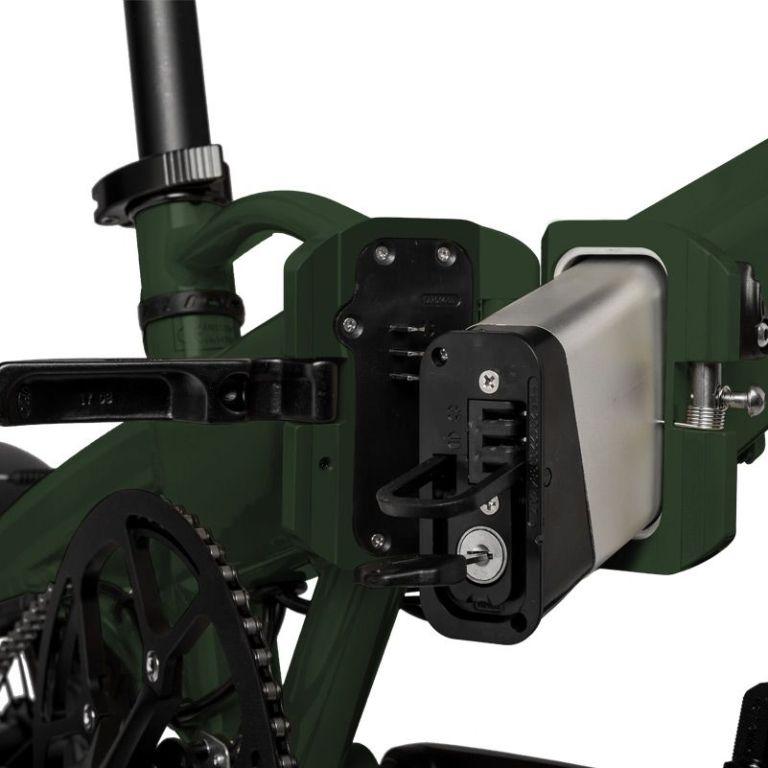 Freeel Bicicletas Eléctricas. Freeel Z03 Verde Explorer Mate, bicicleta eléctrica, plegable y ligera