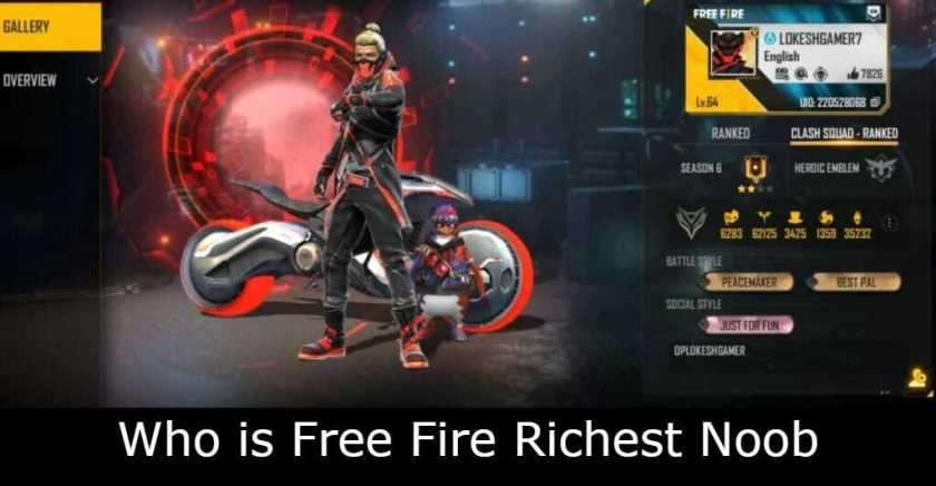 Who is Free Fire Richest Noob