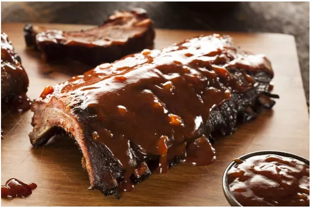 calories in barbecue ribs