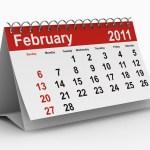 A calendar for February 2011.