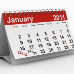 A calendar showing January 2011.