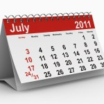 A calendar showing July 2011.