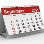 A calendar showing September 2011.