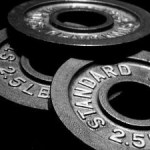 A pile of weight lifting plates.