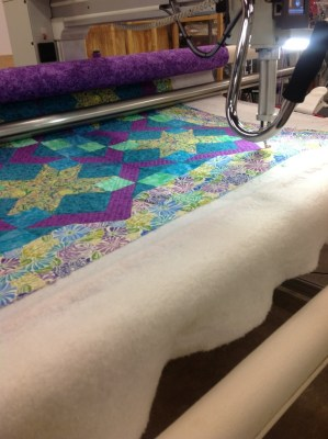 Pictures of projects in progress on the Innova Longarm