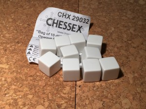 Cheesed blank dice
