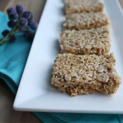 Super quick gluten free flapjacks
