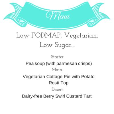 A Low FODMAP, Vegetarian, Low Sugar Dinner Party!