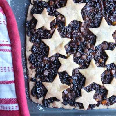 Clementine & Chocolate Mince Pie Slices (Gluten-free, Dairy-free, Egg-free, Nut-free, Soya-free)