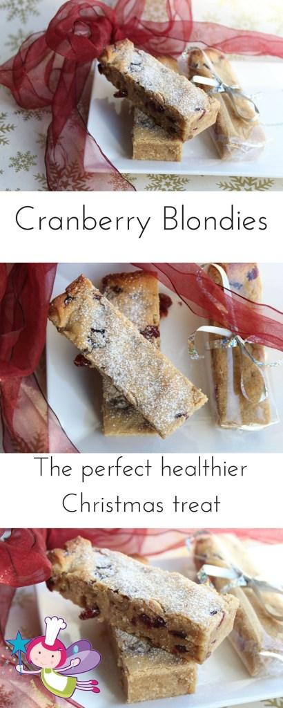 Cranberry Blondies