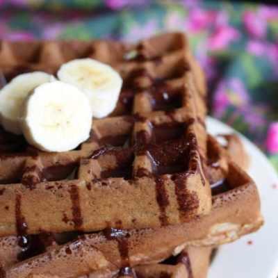Banana Waffles (Gluten-free, Dairy-free, Sugar-free)