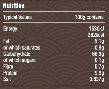 nutritional table nearly rye bread mix