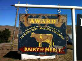 photo of Vintage Dairy Sign