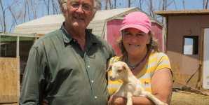 Carol and Julian Pearce, former dairy goat farmers