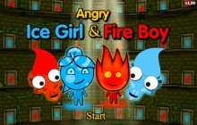 angry ice girl and fire boy