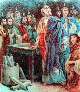 Receiving the Holy Spirit on Pentecost Day
