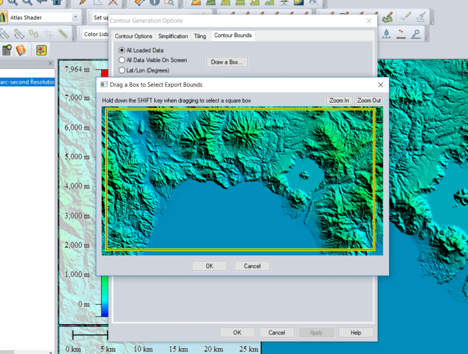 create contour from srtm.png