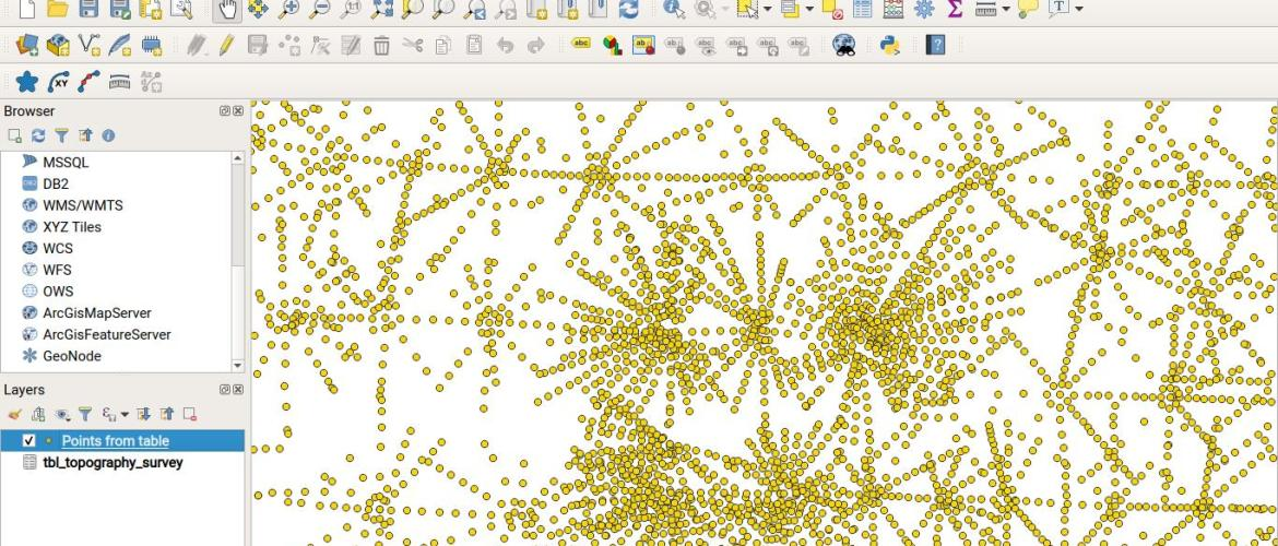 create points from a table in qgis