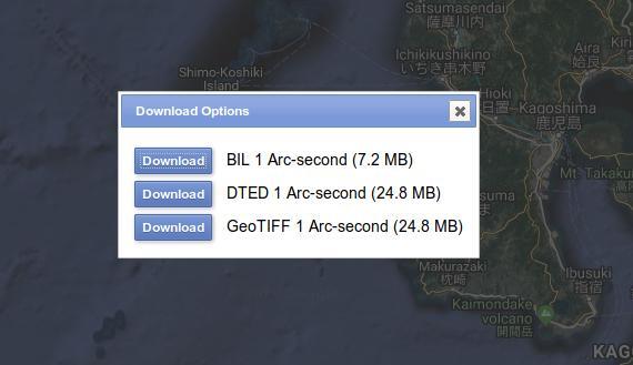 open srtm file on qgis