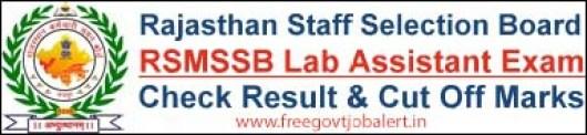 RSMSSB-Lab-Assistant-Result-Cut-off-Marks-Merit-List
