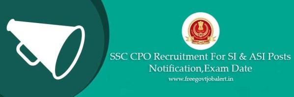 SSC SI ASI Vacancy Recruitment