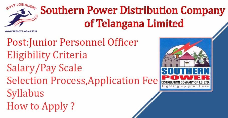 TSSPDCL Recruitment Junior Personnel Officer Post
