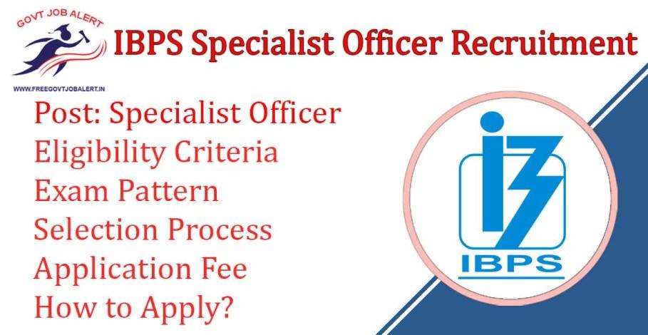 IBPS SO Recruitment 2019