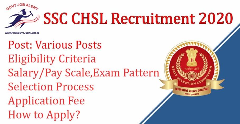SSC CHSL 2020