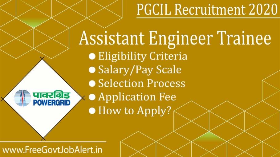 PGCIL AET Recruitment 2020 - 110 Assistant Engineer Trainee Jobs
