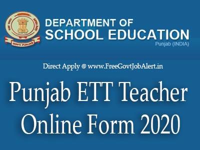 Punjab ETT Teacher Jobs 2020 - 1664 ETT Teacher Vacancy