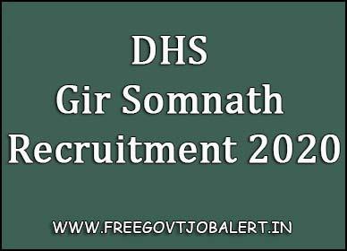 DHS Gir Somnath Recruitment 2020