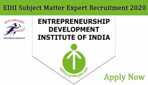 EDII Subject Matter Expert Recruitment 2020