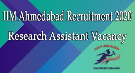 IIMA Research Assistant Recruitment 2020