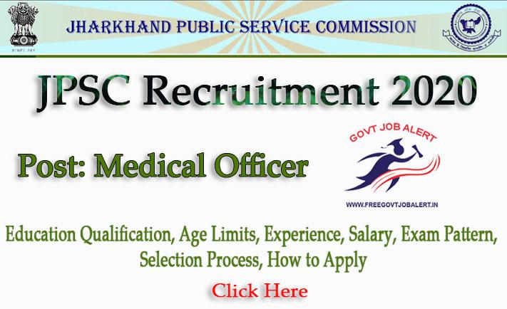 JPSC Medical Officer Recruitment 2020