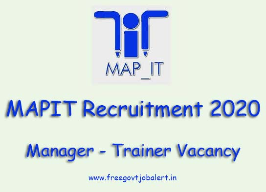 MAPIT Manager - Trainer Recruitment