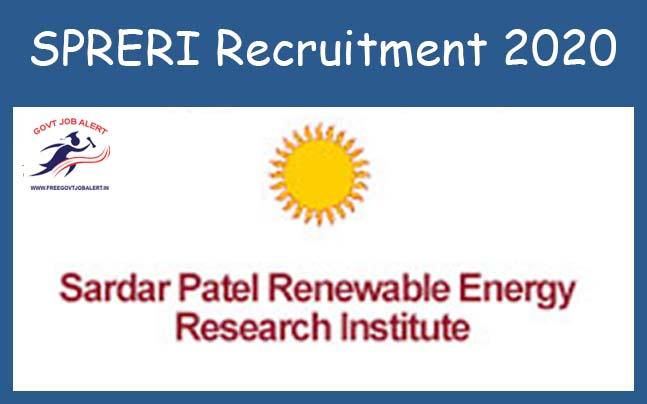 SPRERI Recruitment 2020